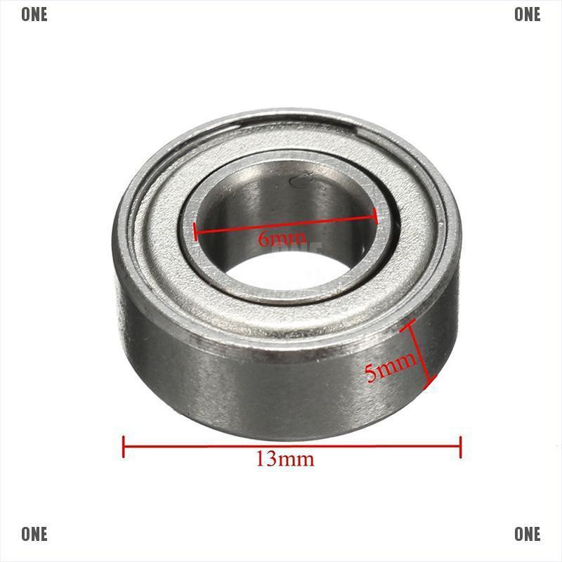 10 Pcs 7x17x5mm 697ZZ Metal Double Shielded Ball Bearing Bearings 7*17*5
