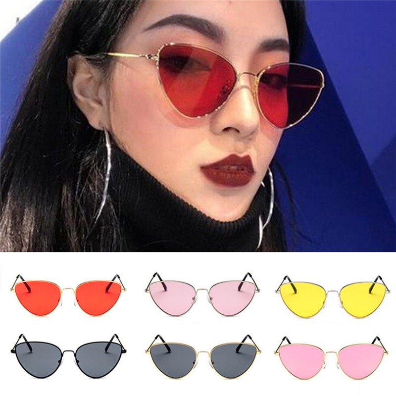 e2895c81a ProductImage. ProductImage. Women Cat Eye Sunglasses Retro Metal Woman ...