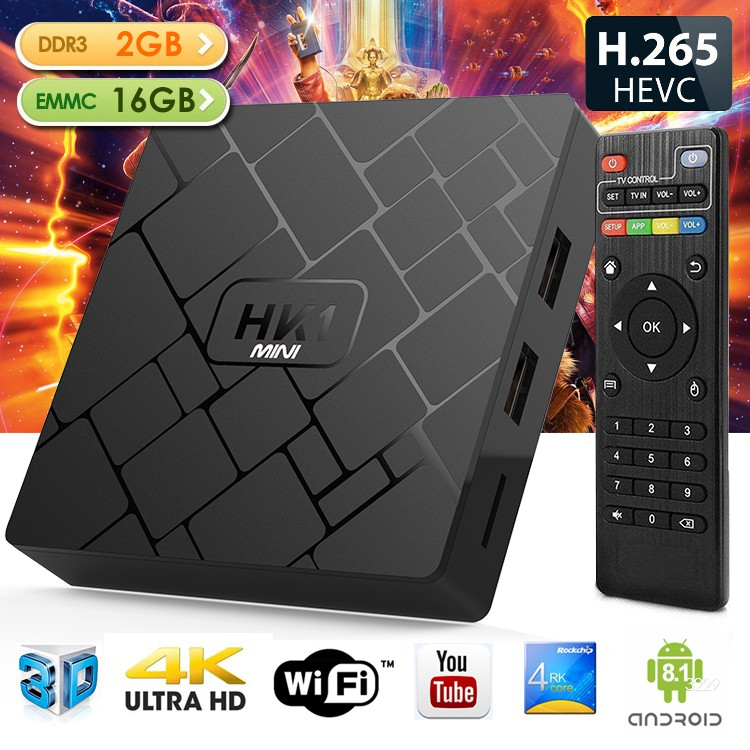 HK1mini RK3229 cortex-A53 Android TV BOX 2GB 16GB KODI WIFI
