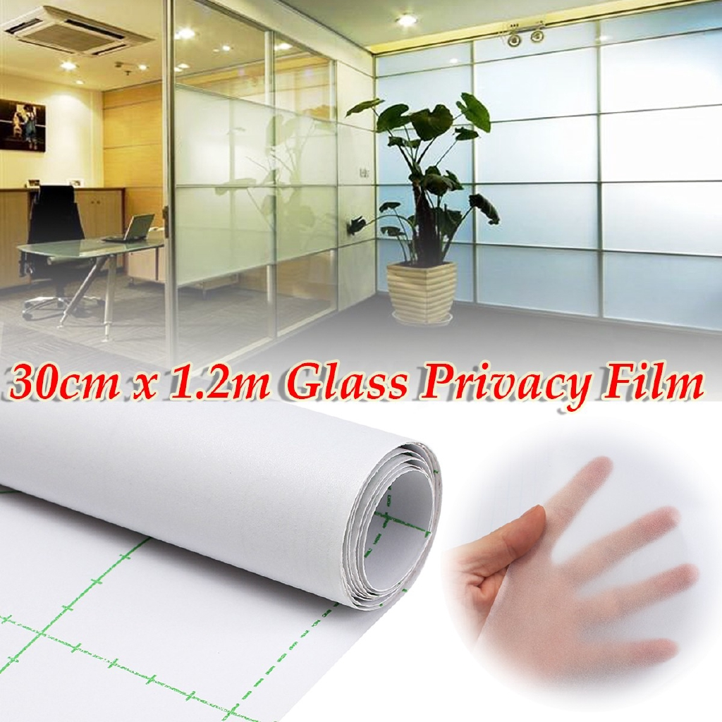 """20/"""" X 50 FT ROLL WHITE FROST MATTE OPAQUE FILM PRIVACY FOR OFFICE,BATHROOM,HOME"""