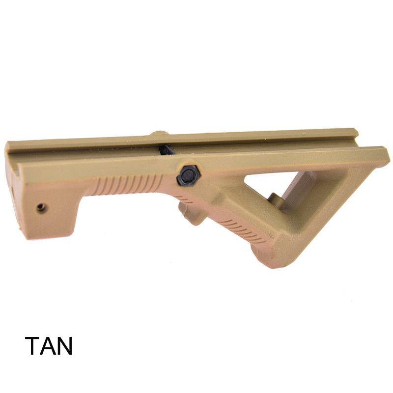 Tan Angled Foregrip Hand Guard Front Grip for Picatinny Quad Rail Hunting Gun