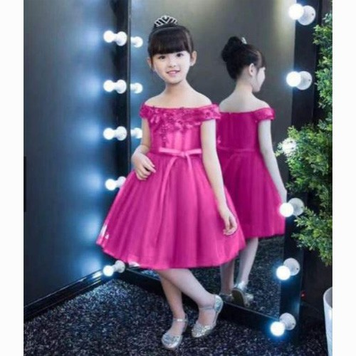 Flower Girl Dress Off Shoulder Birthday Princess Prom Party Formal Gown for Kids