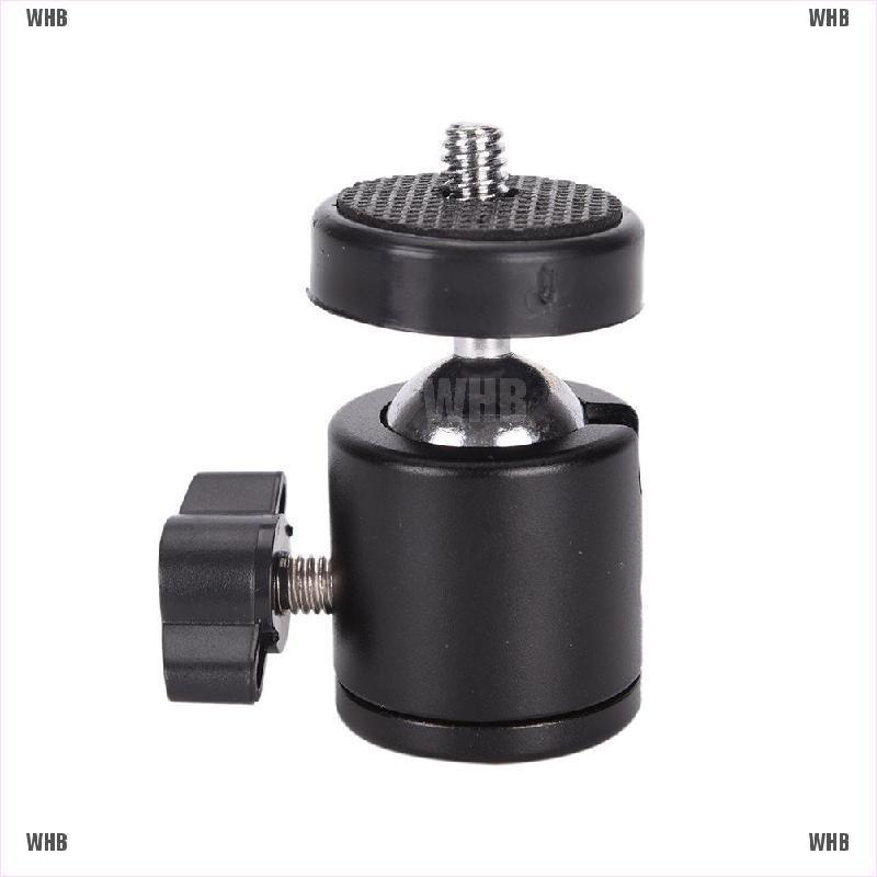 "1//4/"" Black Ball Head Bracket//Holder//Mount For Camera Tripod Hot Shoe Adapter WQH"