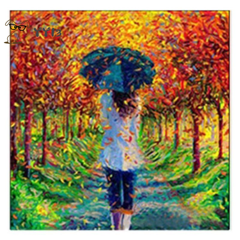 5D Diamond Painting Full Drill Embroidery Cross Stitch Kits Girl With Umbrella