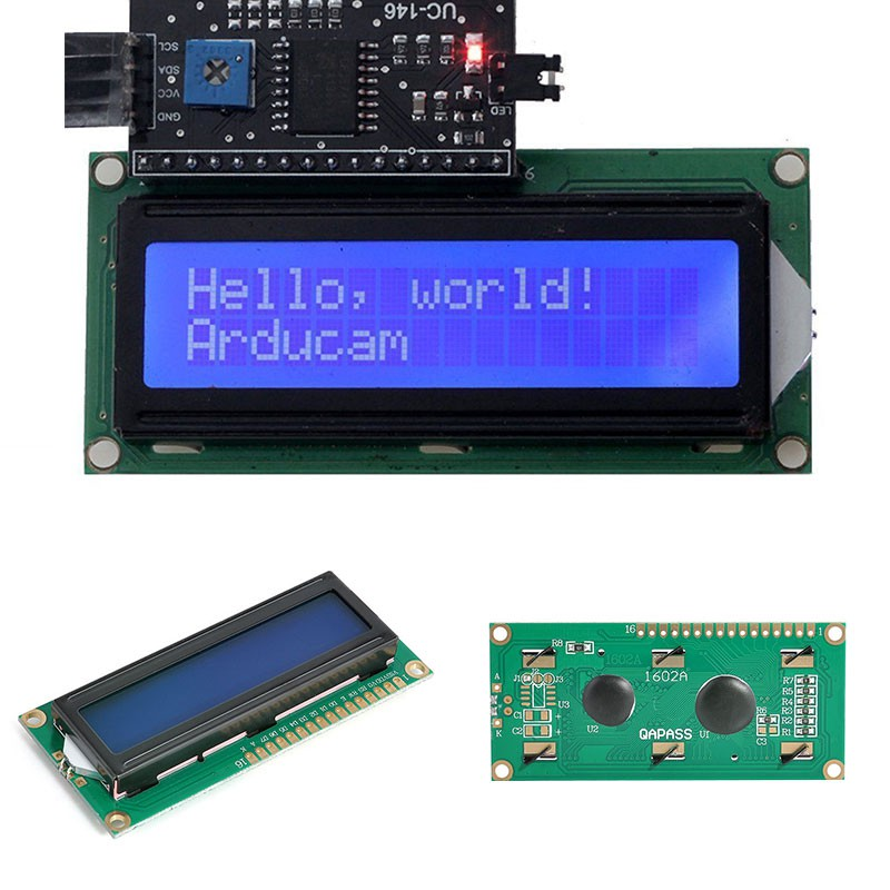 IIC I2C TWI 1602 16 Pins Interface Backlight LCD Dispay Module Board For  Arduino