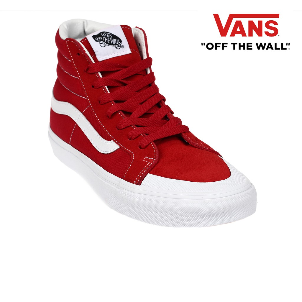 f2778efab9 Vans Men's Sk8-Hi Reissue 138 Sneakers (Racing Red)