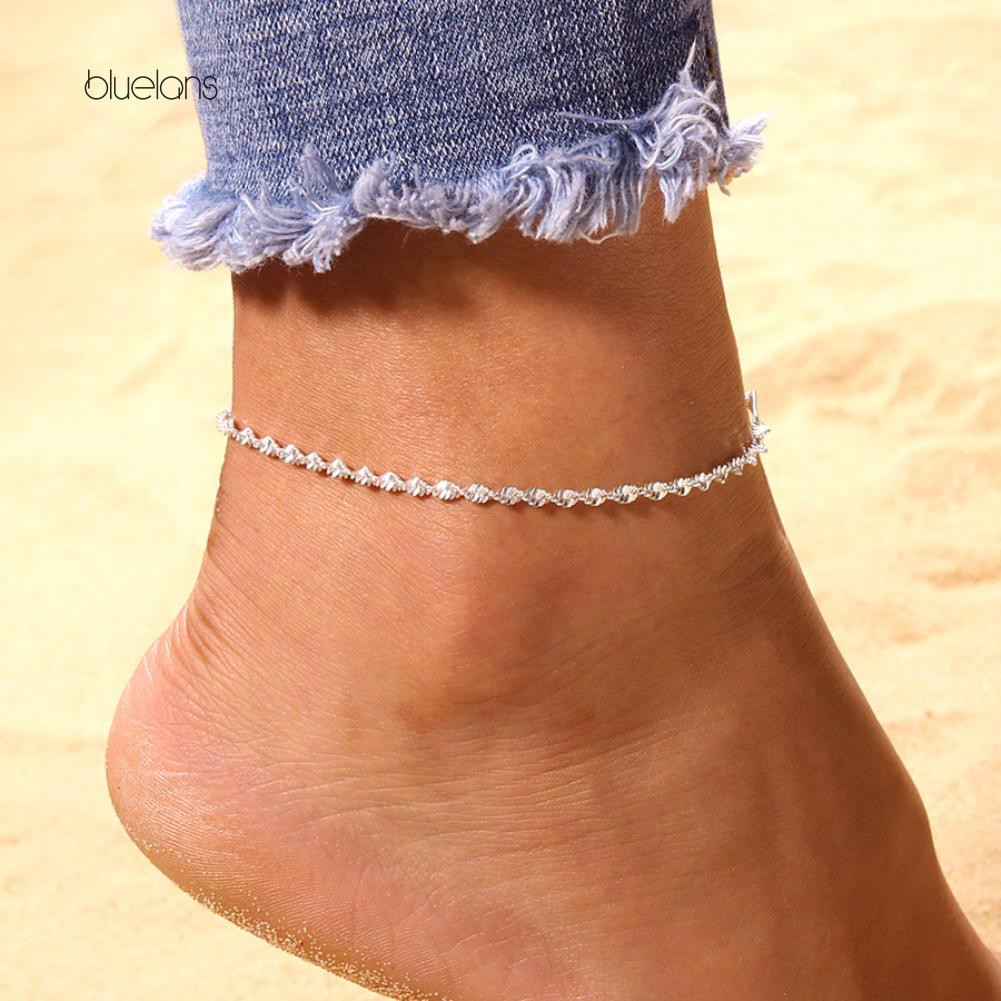 d5d514e35da Bluelans Beads Sandal Beach Anklet Ankle Chain Foot Jewelry ...
