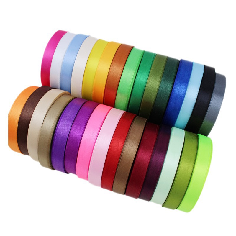 """Satin Ribbon 10mm 35 Plain Coloured Double Sided 3//8/"""" inch Faced Ribbon"""
