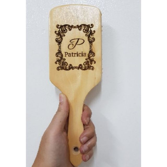 Personalized Laser Engraved Hairbrush With Gift Bag