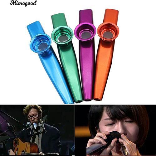 [COD] Aluminum Alloy Kazoo with 5Pcs Flute Diaphragm Music Lovers Toy Xmas | Shopee Philippines