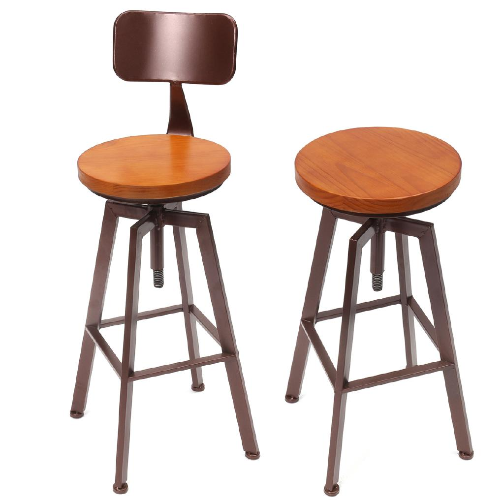 Admirable Hulunbeier Industrial Rustic Retro Metal Breakfast Bar Stool Kitchen Counter Chair Ibusinesslaw Wood Chair Design Ideas Ibusinesslaworg