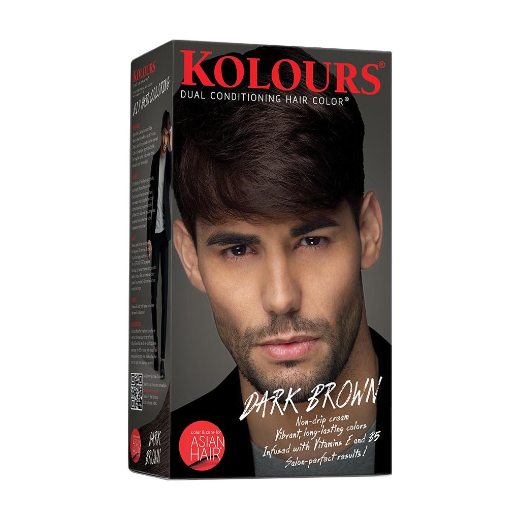 Kolours Hair Dye Dark Brown for Men 120ml