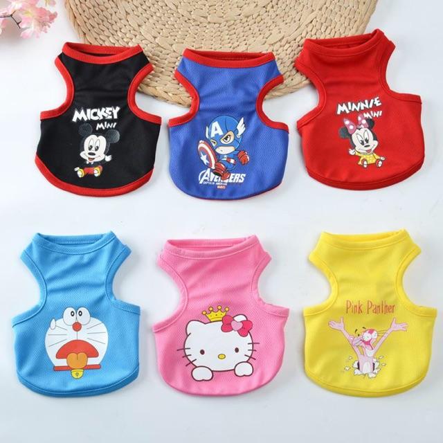 d77f229a4731c Pet cute comic cartoon printed vest clothes