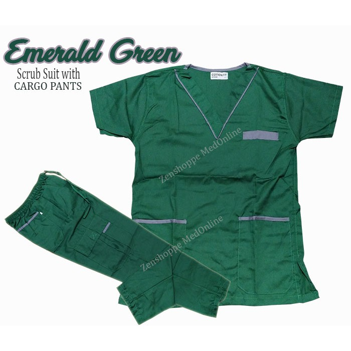 532c89330a8 Scrub Suit with Cargo Pants (Military Green) [LCC] | Shopee Philippines