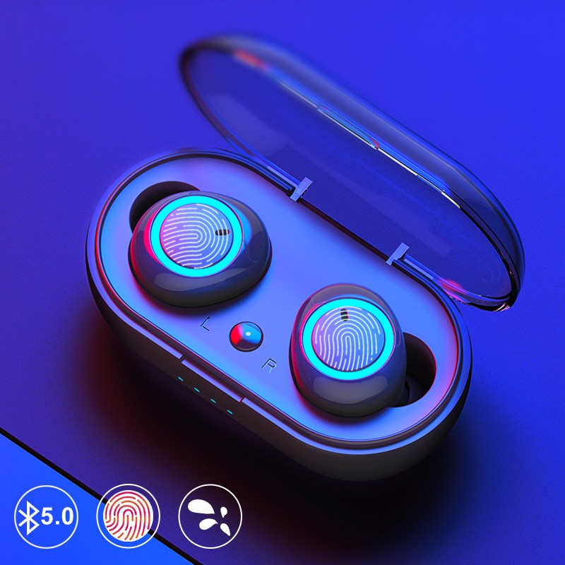 TWS True Wireless Earbuds Bluetooth 5.0 Headset Touch Control Earphone Handsfree With Microphone