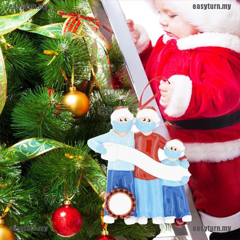 2020 Christmas Tree Hanging Ornaments Family Xmas Ornament Santa Claus Decor Hot