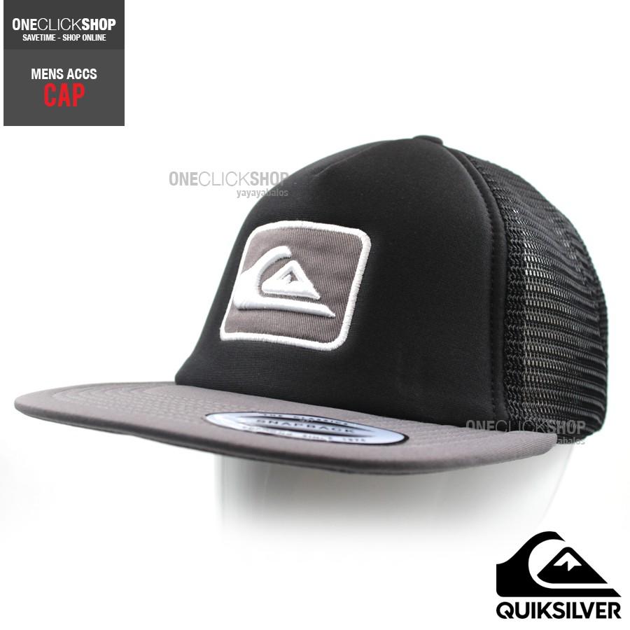 Quiksilver Surfing Netcap Truckers Cap New - BLKGRY  d40f425c19aa