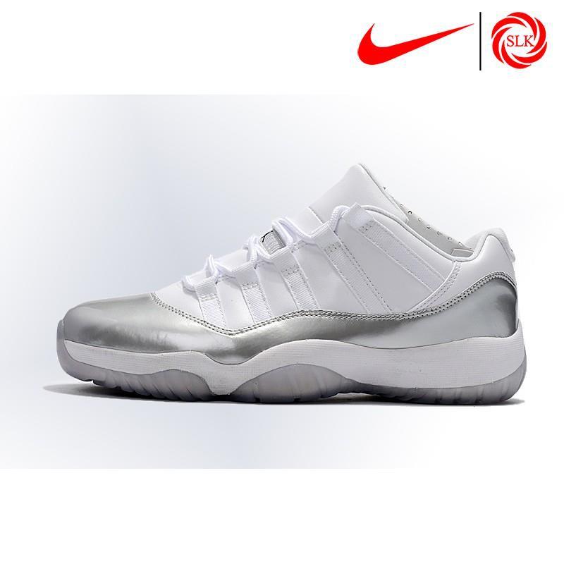 244480027c5 SLK☆ Nike Air Jordan 11 Low Heiress White Silver Basketball shoes | Shopee  Philippines