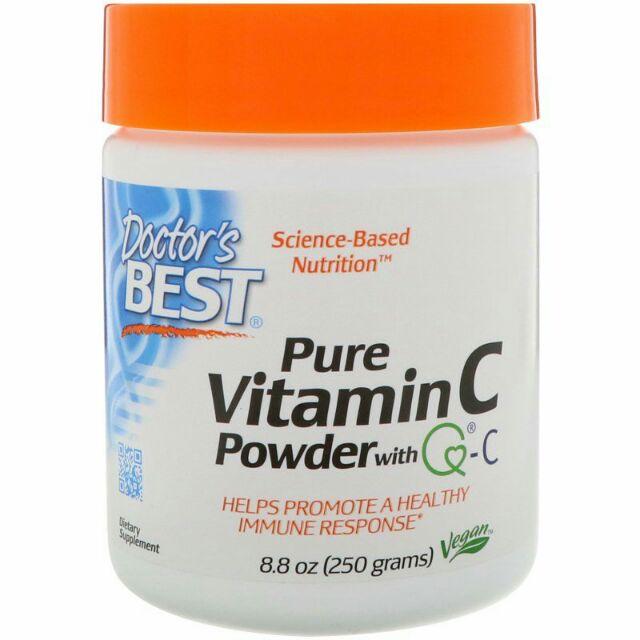 Pure Vitamin C Powder with Q-C, 8 8 oz (250 g)