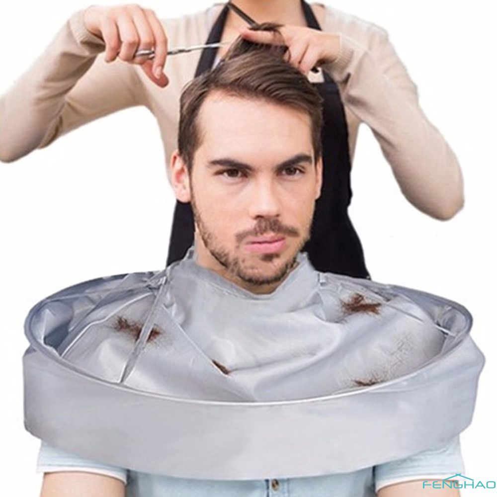 Silver Gray Foldable Adult Hair Cutting Scarf Hair Coloring Cloak Umbrella Barber Cape