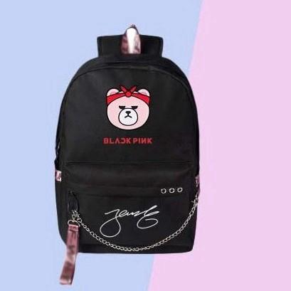 071eacf2401c BLACKPINK Casual Style Cartoon Cute Canvas Autograph Backpacks For Teenage  Girls School Bags
