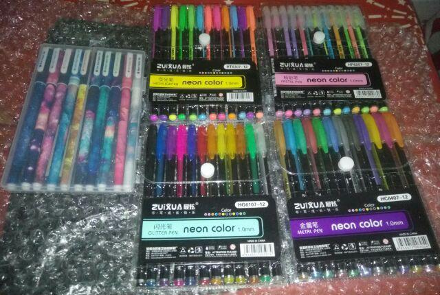 ZuiXua 12 In 1 Neon Color Pen 1.0mm
