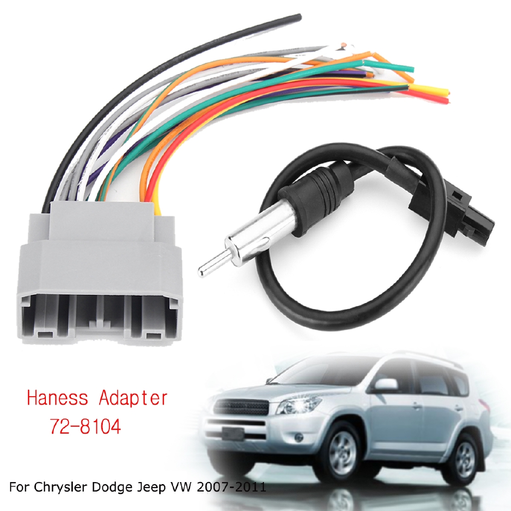 Car Stereo Wiring Harness Factory Radio Male Plug Chrysler Dodge Jeep 2007 /& UP