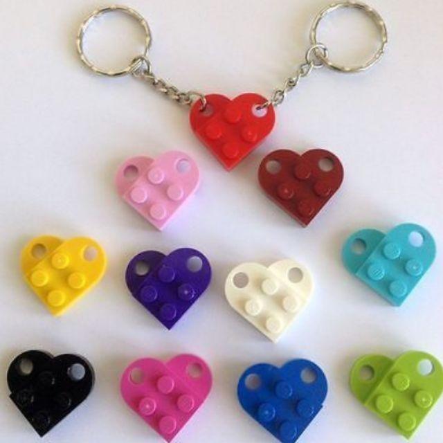 Necklace Valentine  Minifigure LOVE LEGO Bright RED HEART