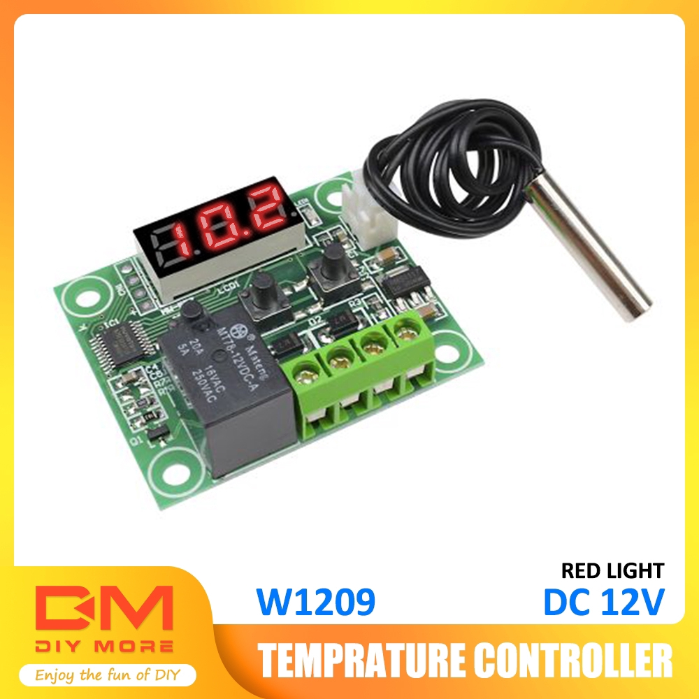 DC 5V W1209 Digital thermostat Temperature Control Switch with Sensor IL