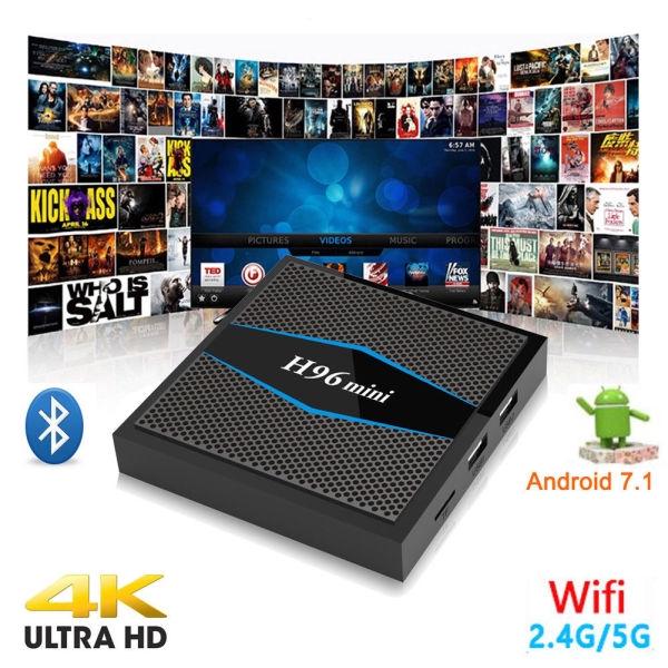 4K TV BOX H96 mini Android 7 1 Set Top Box WIFI Media
