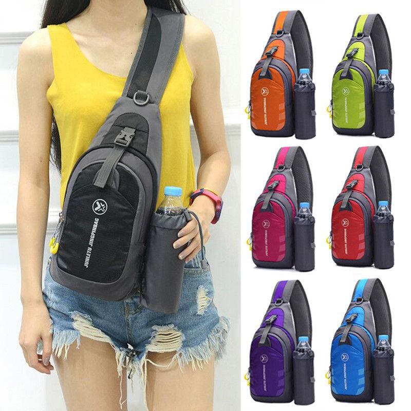 Womens Men Nylon Sling Bag Backpack Crossbody Shoulder Chest Cycle Daily Travel