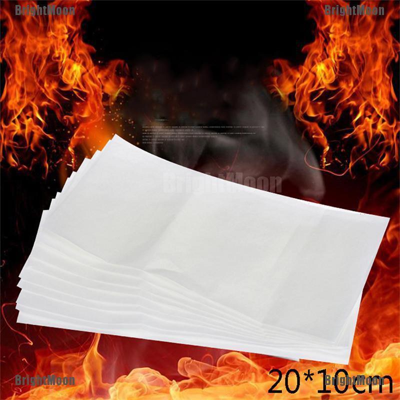 10Pcs 20*10cm Fire Paper Flash Flame Paper Fire Paper Magic Props Effect Shoc P1