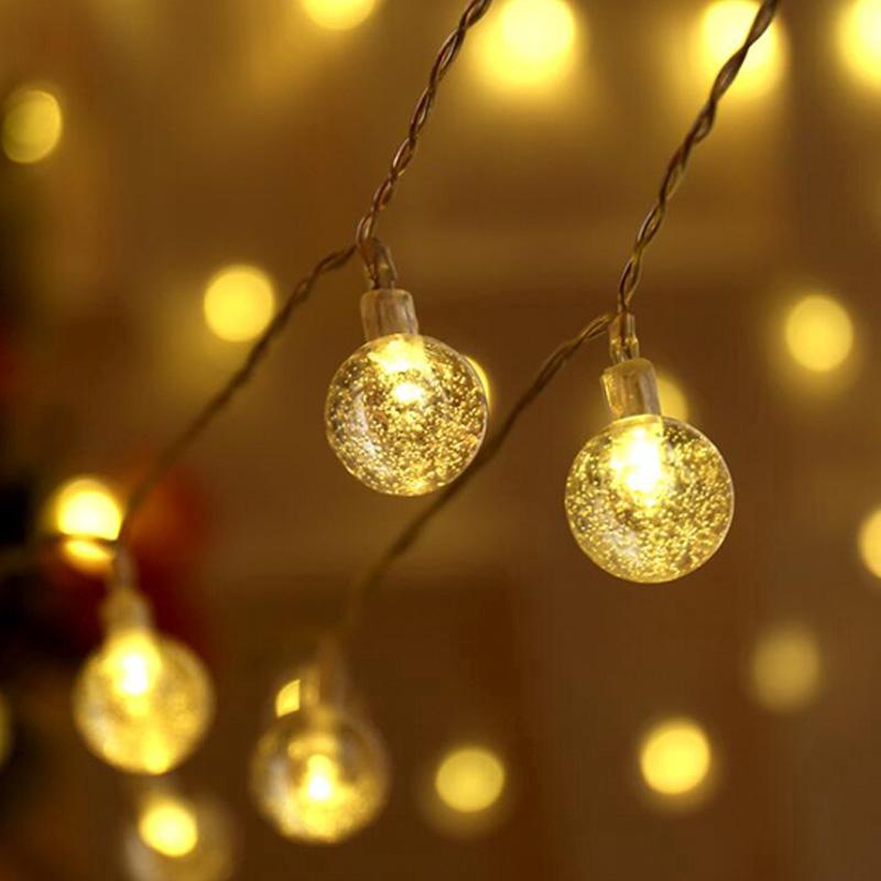 pretty nice 352b6 7f660 220v Plug in 10m 100 Led Lanterns Transparent Bubbles Fairy String Lights  Outdoor/indoor Decor