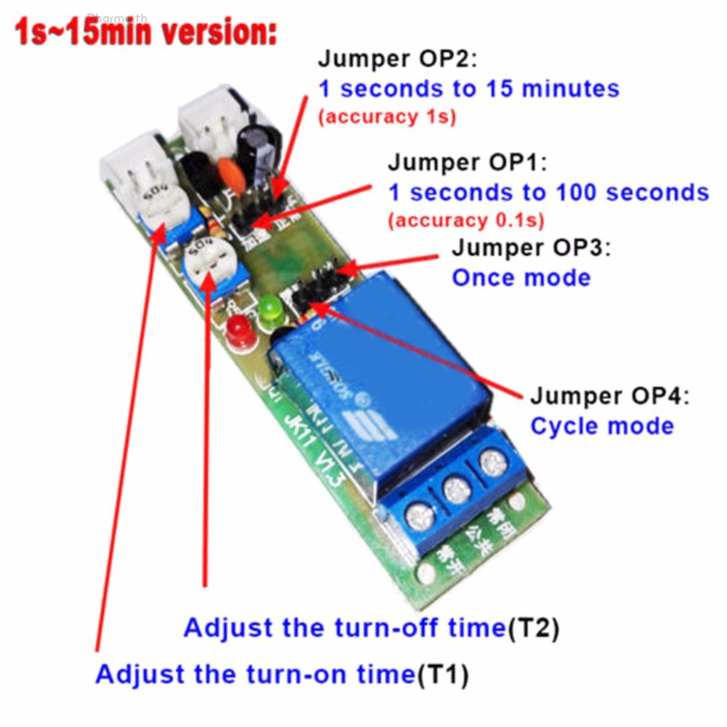 DC 5V 12V 24V Infinite Cycle Delay Timing Timer Relay ON OFF Switch Module