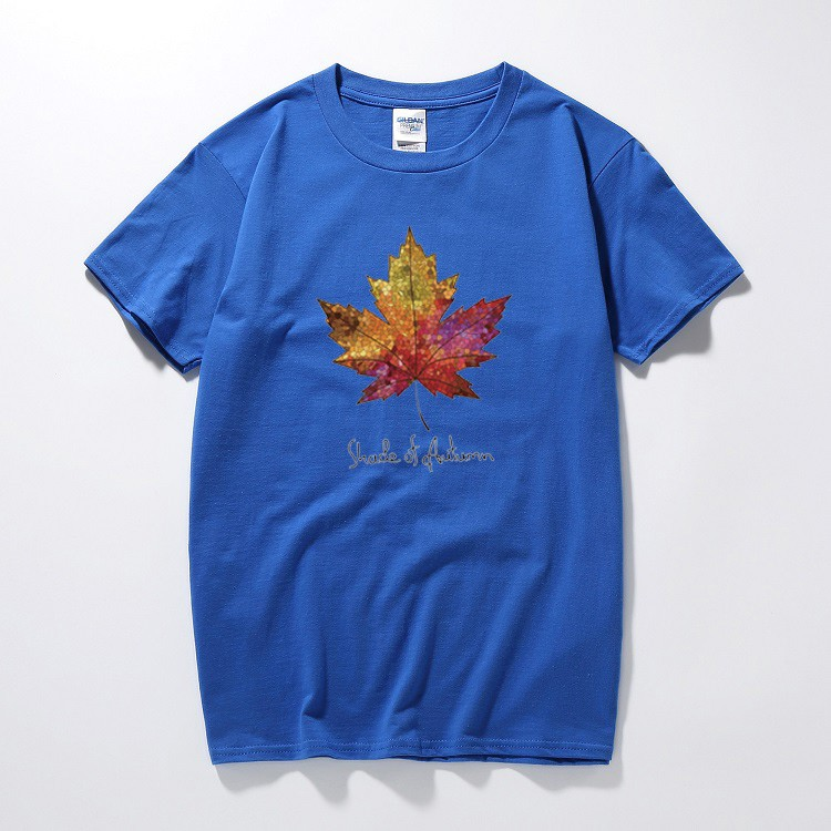 f2cc5d938 Tide brand summer tide T-shirt male paint letters maple leaf | Shopee  Philippines