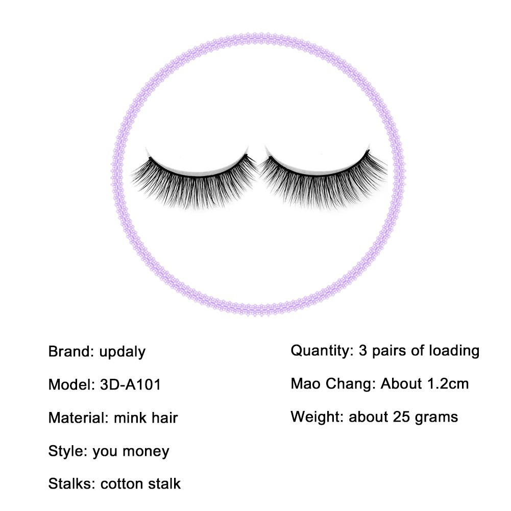 35d91385b28 ProductImage. Sold Out. 3D mink fur natural long lashes cotton thread 3  pairs