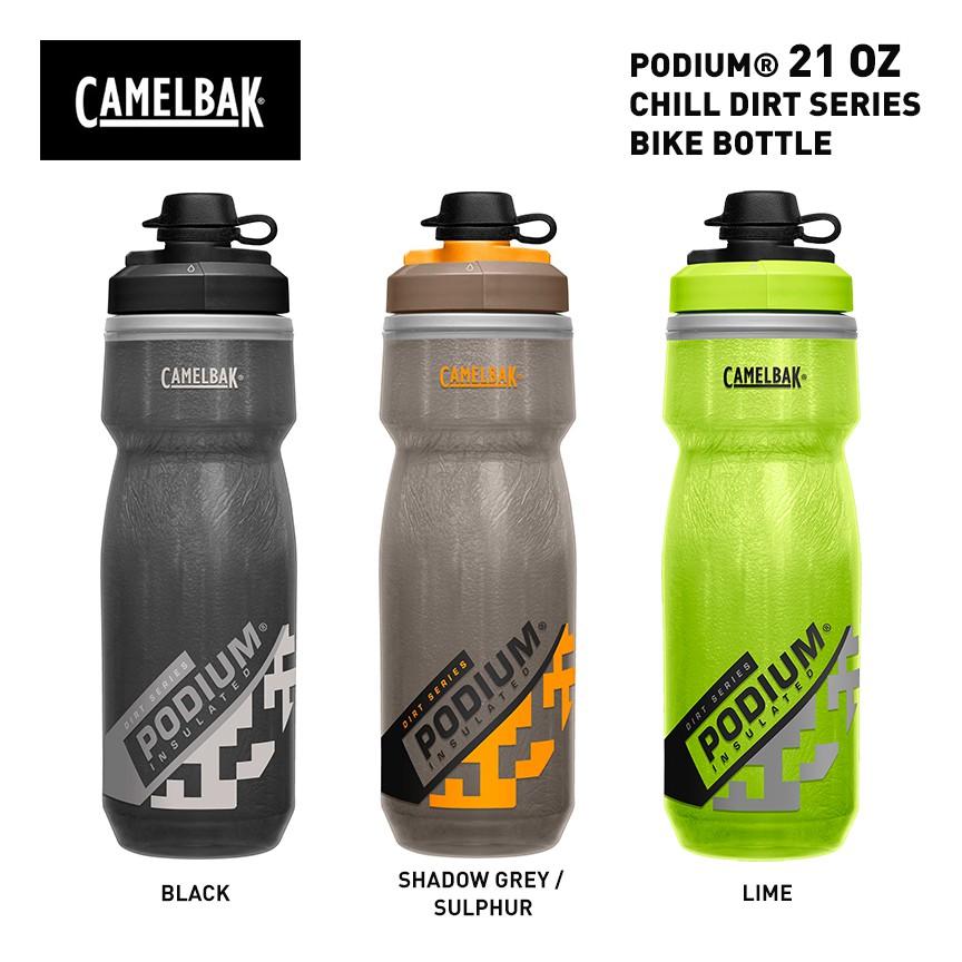 Shadow Grey//Sulphur Camelbak Podium Dirt Series Water Bottle 21oz