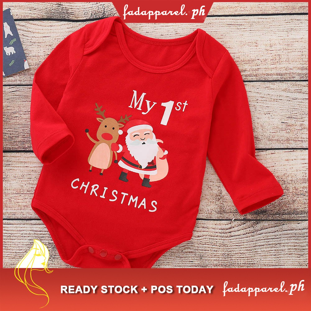 Christmas Jumpsuit Baby.Infant Baby Girls Boys Christmas Jumpsuit Romper Outfit