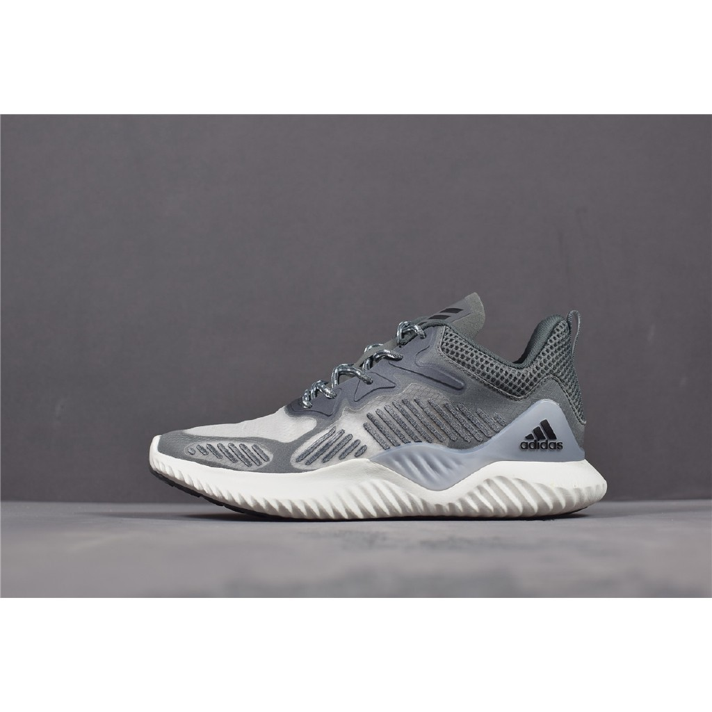 newest 69af5 47484 100% Original Adidas Alphabounce Beyond white Casual running ShoesReady  Stock
