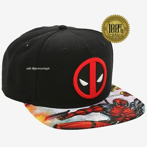 online store 4c64d 2d76c Marvel Deadpool Printed PU Snapback   Shopee Philippines