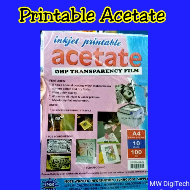 photo about Printable Acetate identify Printable Acetate Inkjet Welcoming 100computer systems