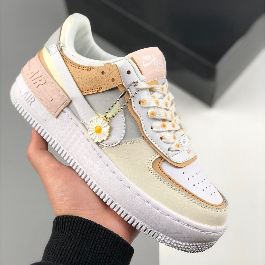 Nike Air Force 1 Low Shadow Macaron Stitching Small Daisy Sunflower Running Shoes Shopee Philippines