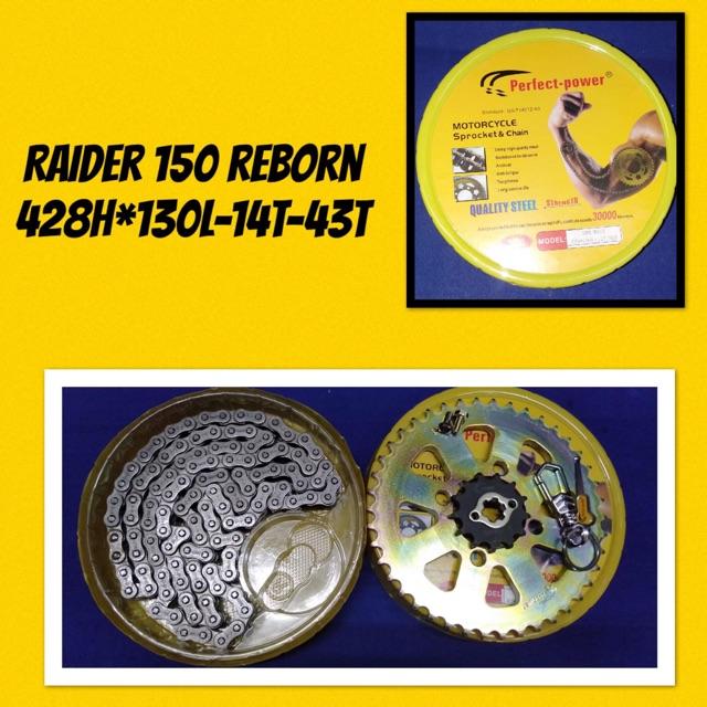 ✔️CHAINSET SUZUKI Raider 150 reborn PERFECT POWER