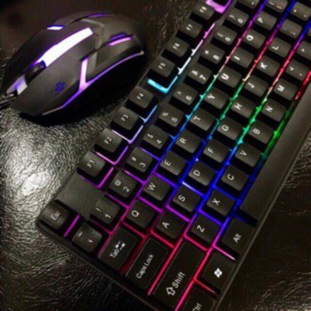 CMK188 Rainbow LED Gaming Keyboard And Mouse Combo Bundle