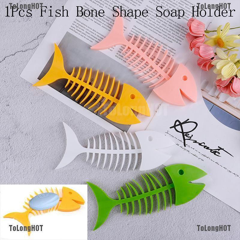 Fish Bone Soap Box Holder Silicone Dish