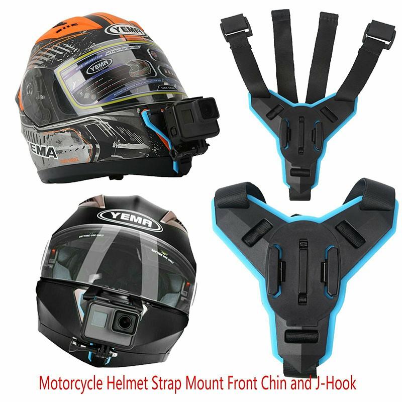 Motorcycle Helmet Strap Mount J Hook For Gopro Hero Xiaomi Yi Dji Osmo Action