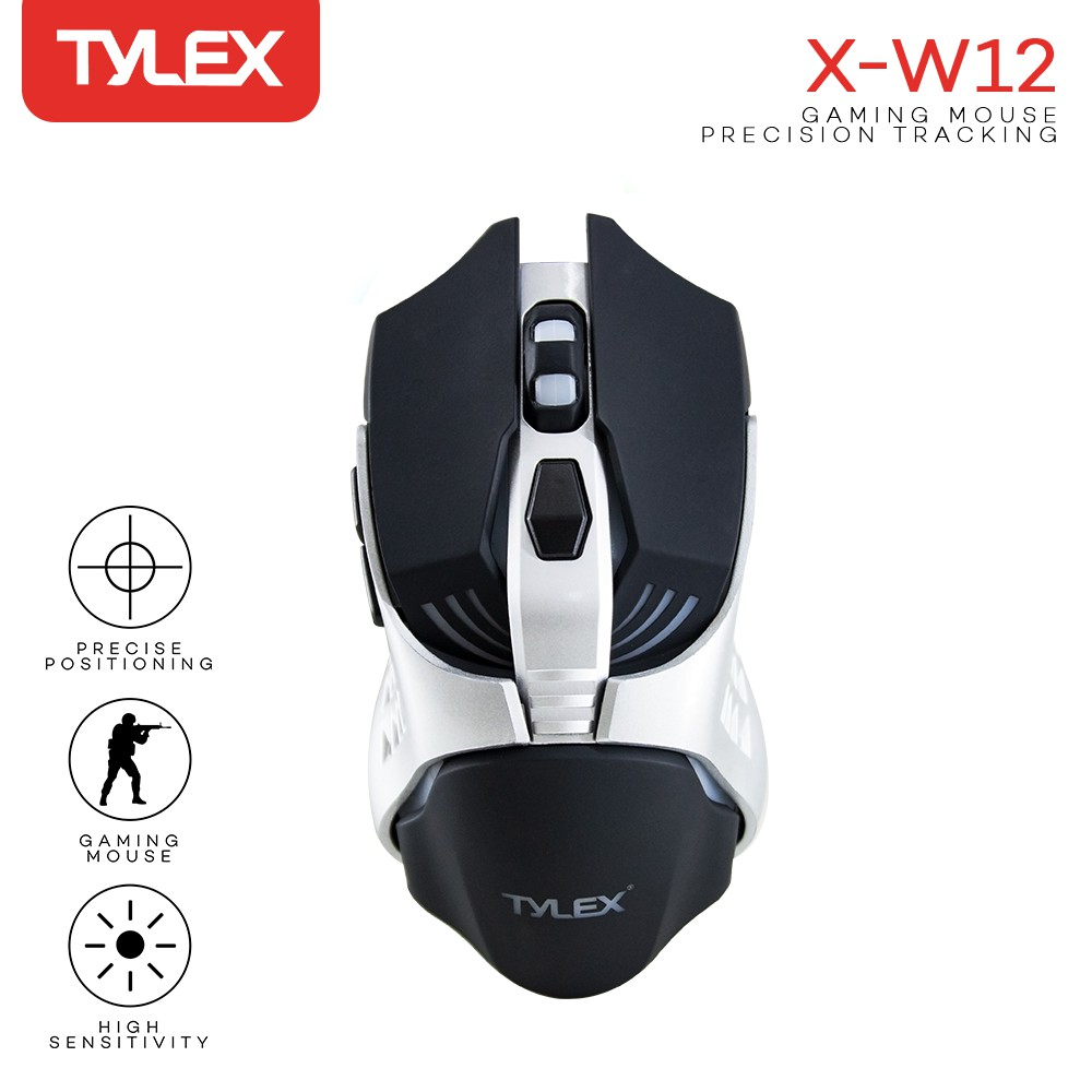 TYLEX X-W12 High-Precision 3200DPI Wired LED Gaming Mouse