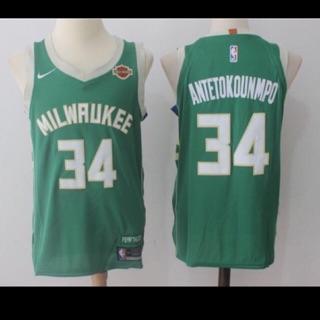 huge selection of a9f25 5f6ed NBA Men's Giannis Antetokounmpo 34 Milwaukee Bucks Jersey ...