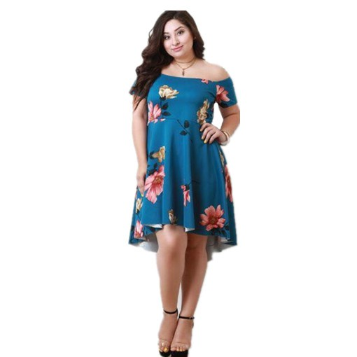 plus size casual off shoulder dress | Shopee Philippines