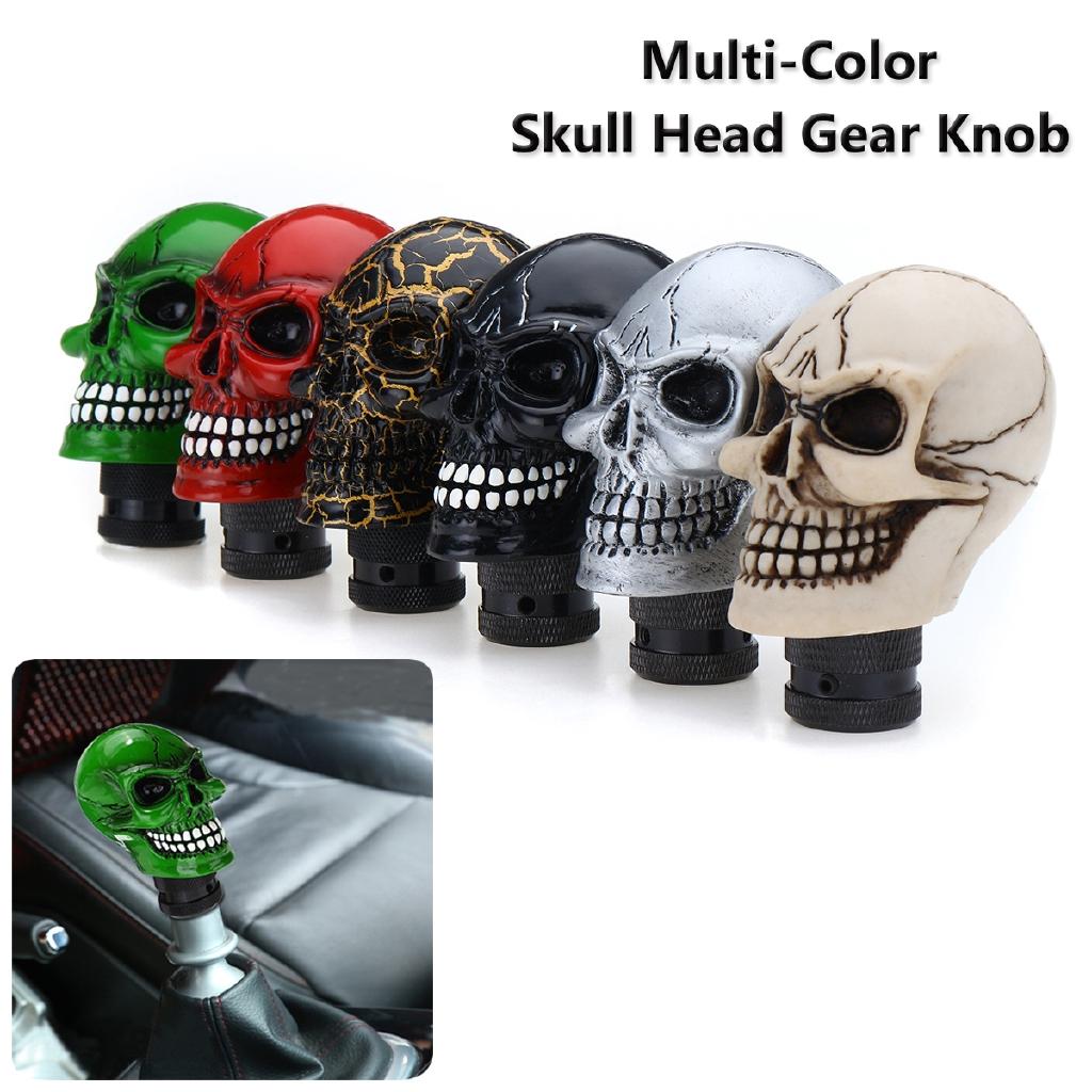 Black Skull Head 10cm Universal Manual Car Gear Stick Shift Knob Shifter Lever